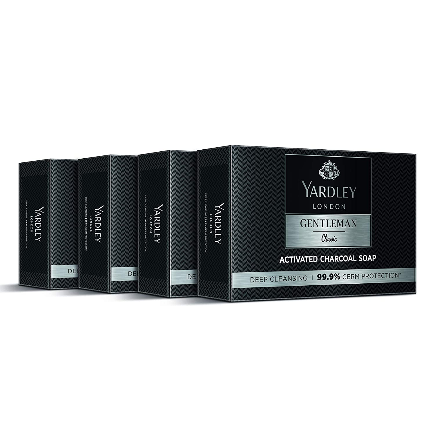 [Apply coupon] Yardley London Gentleman Classic Activated Charcoal Soap, 100 g (Pack of 4)