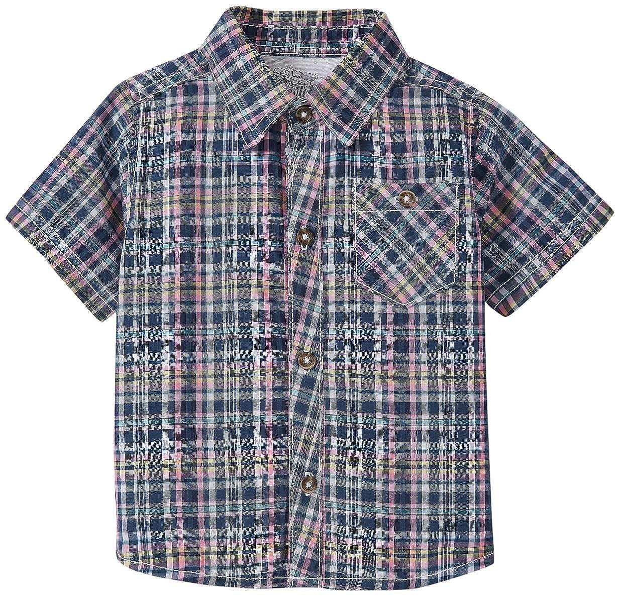 Kapital K Boys Plaid Poplin Button-Down Shirt