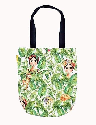 2548f27f3 Tote Bag Frida Kahlo México, Bolso tote de algodón hecho a mano, Bolsa de