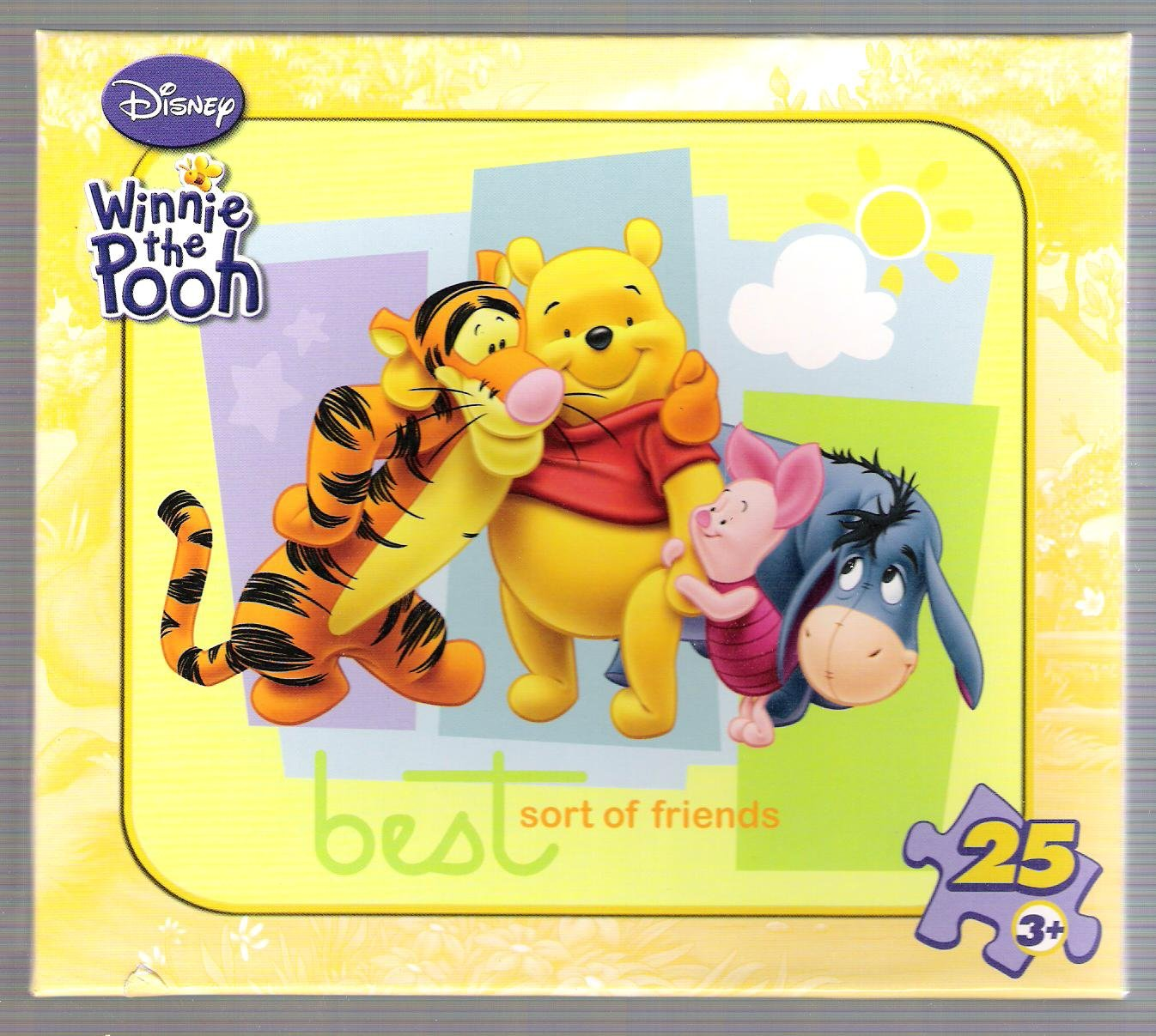 Ages 3+ Best Sort Of Friends Winnie The Pooh 25 Piece Puzzle