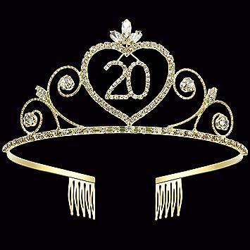 Amazon.com: Coucoland - Tiara con corona de cristal para ...