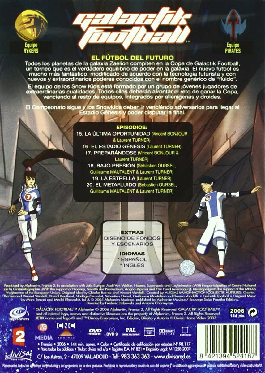 Amazon.com: Galactik Football - Season One - 4-DVD Box Set (Galactik Football - Entire Season 1)  [ NON-USA FORMAT, PAL, Reg.0 Import - Spain ]: Patrick ...