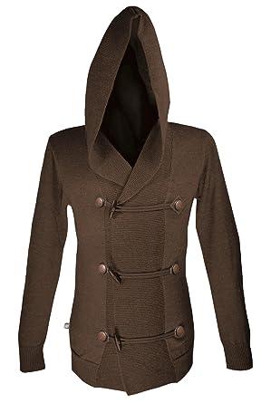 Musterbrand Assassin s Creed Cardigan Herren Musketeer Strick-Jacke Hoodie  Braun XS 72fac45295