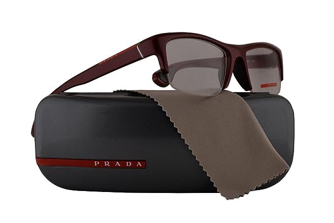 Prada PS04EV Eyeglasses Bordeaux Semi Shiny w/Demo Clear