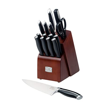 Chicago Cutlery Belmont 16-Piece Block Knife Set Kitchen Knives at amazon