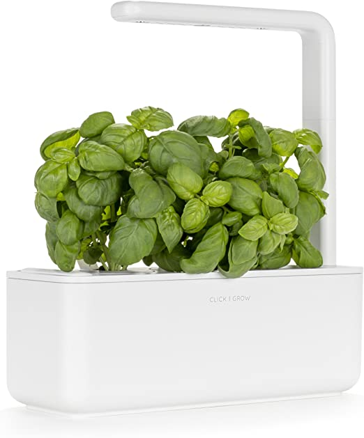 Click Grow Smart Garden 3 Indoor Gardening Kit Includes Basil Capsules White