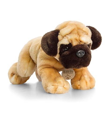 Amazoncom 34cm Keel Toys Pug Soft Toy Dog Bailey Exclusive To