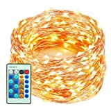 Amazon Price History for:99 Feet 300 LEDs Copper Wire String Lights Dimmable with Remote Control, Decobree Christmas Lights with UL Listed for Party Wedding Bedroom Christmas Tree, Warm White