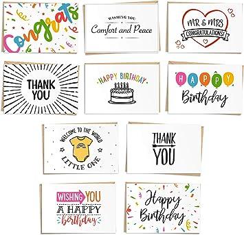 Amazon.com: Surtido de 120 tarjetas de felicitación ...