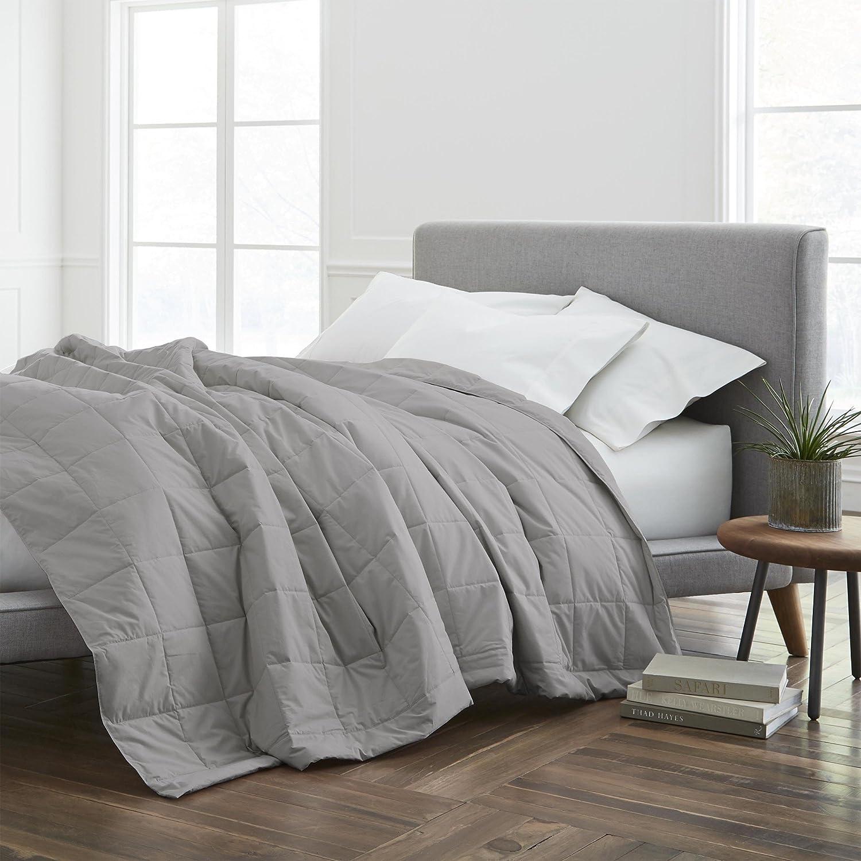 ECO PURE EcoPure Filled Blanket, King, Dark Grey