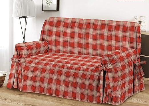 HomeLife – Cubre sillón – Elegante Protector de sofás a Cuadros ...