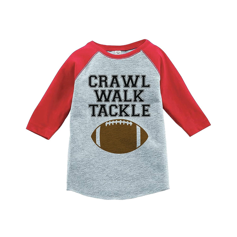 7 ate 9 Apparel Kids Crawl Walk Tackle Red Baseball Tee