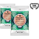 L. Organic Cotton Feminine Wipes with Cucumber + Aloe, Moisturizing & pH-Balanced, 30 Count, 2 Pack
