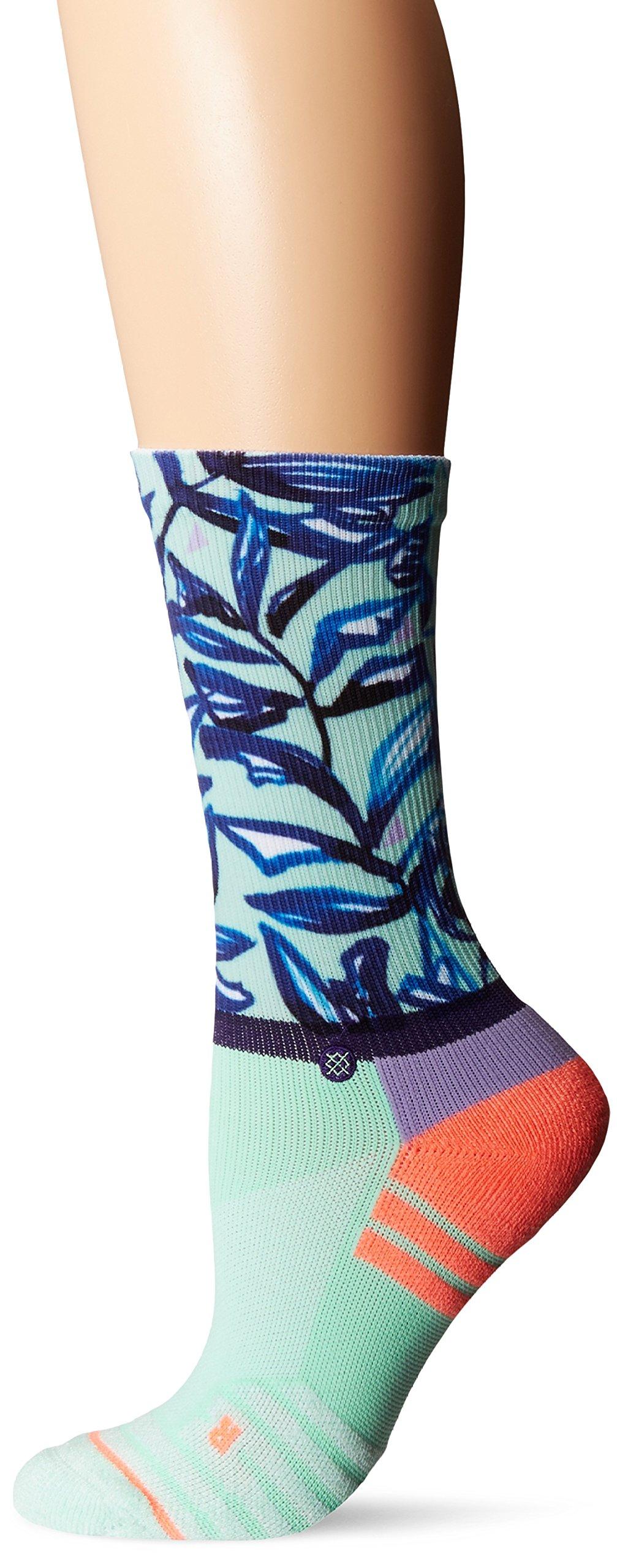 Stance Women's Mint Tree Crew Sock, Seafoam, Medium