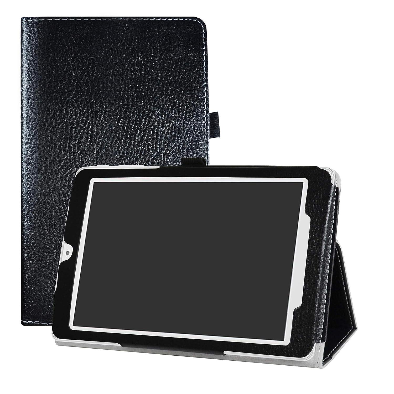 LFDZ Alcatel OneTouch Pixi 3 8 3G Custodia, Slim Ultra Pelle Sottile e Leggera Cover Case Custodia per 8' Alcatel OneTouch Pixi 3 8 3G Tablet,Nero