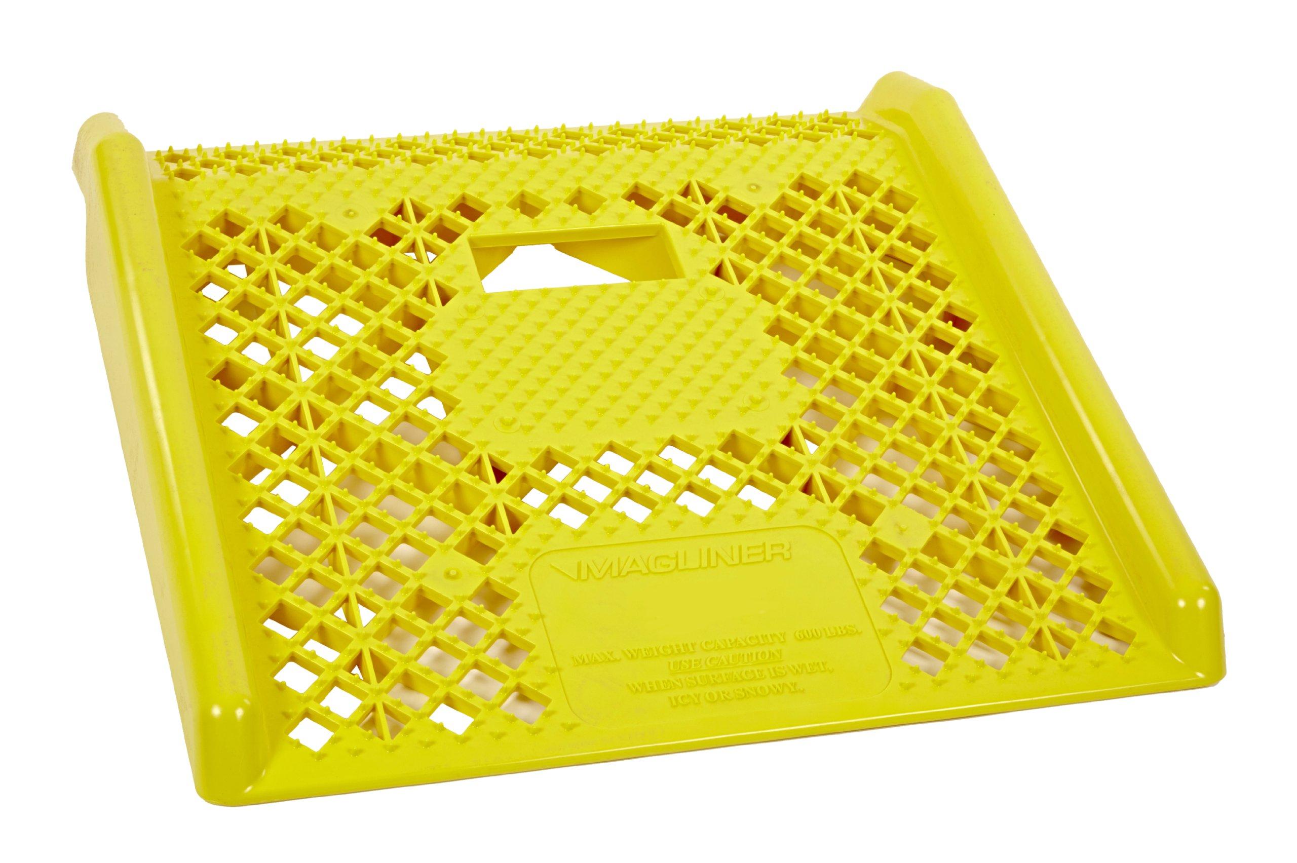 Magliner Yellow Plastic Curb Ramp