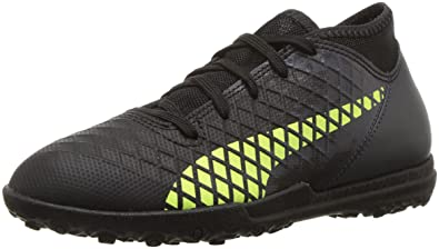 PUMA Future 18.4 TT Kids Soccer Shoe Black-Fizzy Yellow-Asphalt 3928bc790