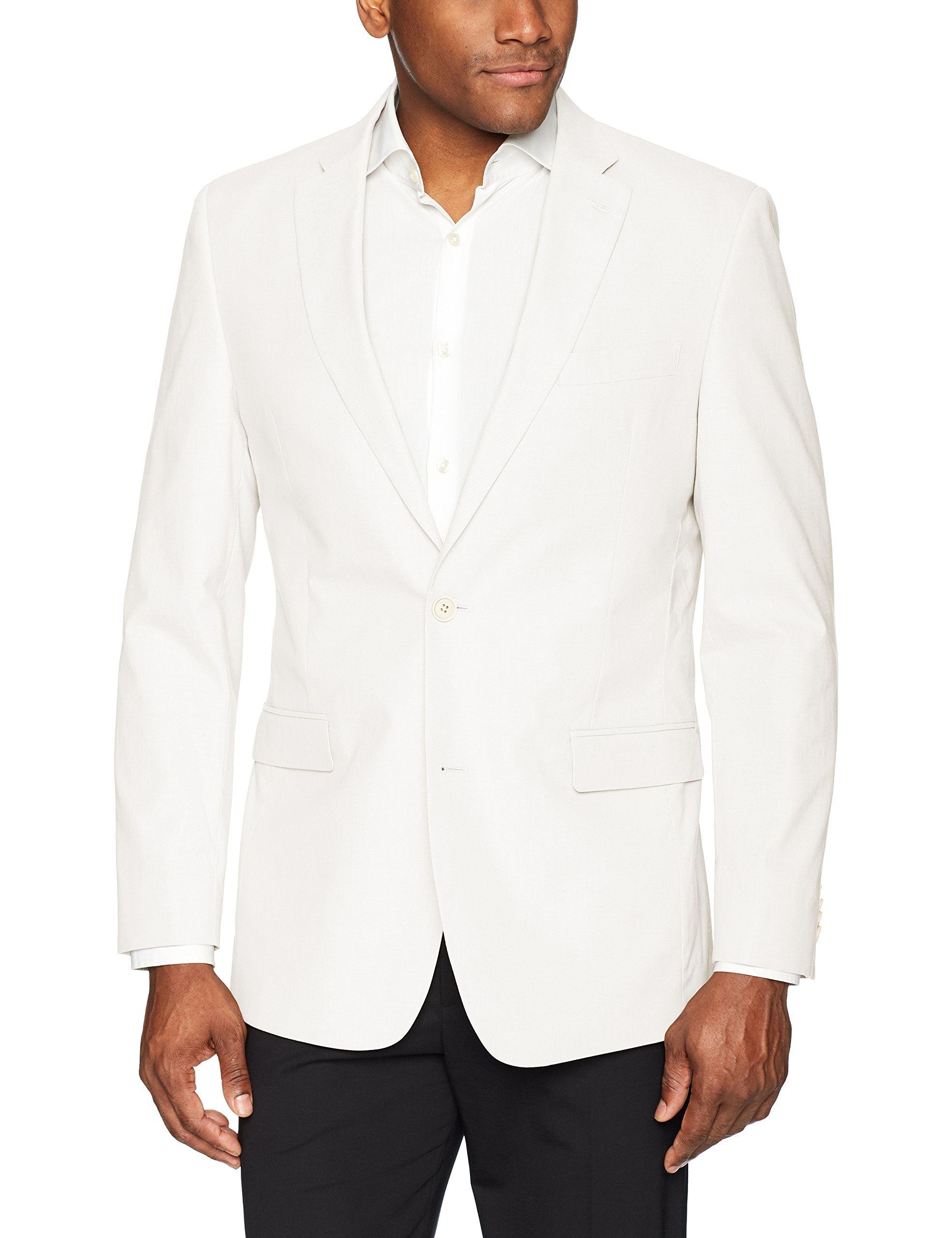 Tommy Hilfiger Men's Big and Tall Modern Fit White Linen Suit Separate (Blazer and Pant), 46L by Tommy Hilfiger (Image #1)