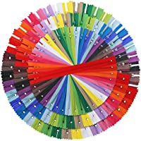 Outuxed 120pcs 9 Inches 14 Inches 18 Inches Mixed Nylon Coil Zippers Colorful Sewing Zippers for Tailor Sewing Crafts…