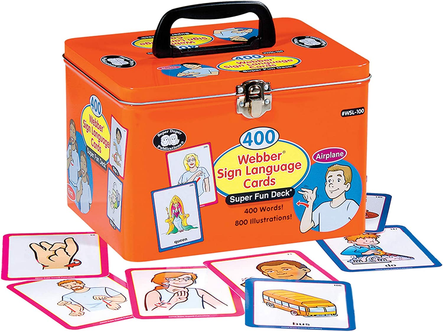 1586506811 Super Duper Publications 400 American Sign Language (ASL) Flash Cards Fun Deck Educational Learning Resource for Children 81MqM-5NTjL.SL1500_