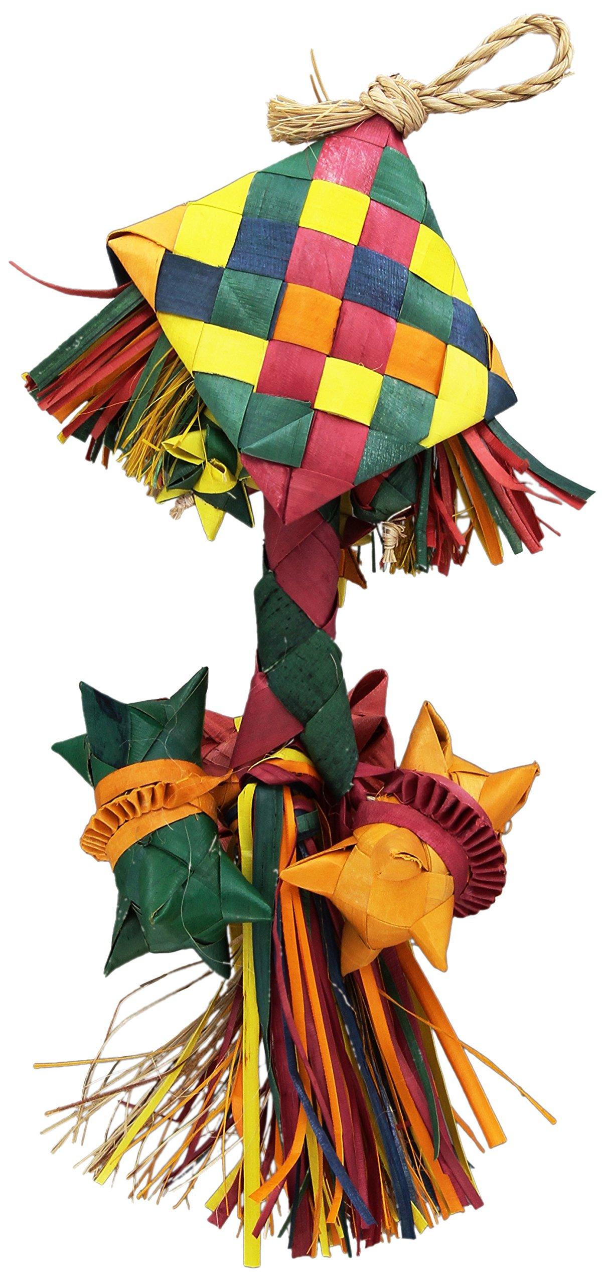 Planet Pleasures Bird Rattle Piñata Bird Toy, Small