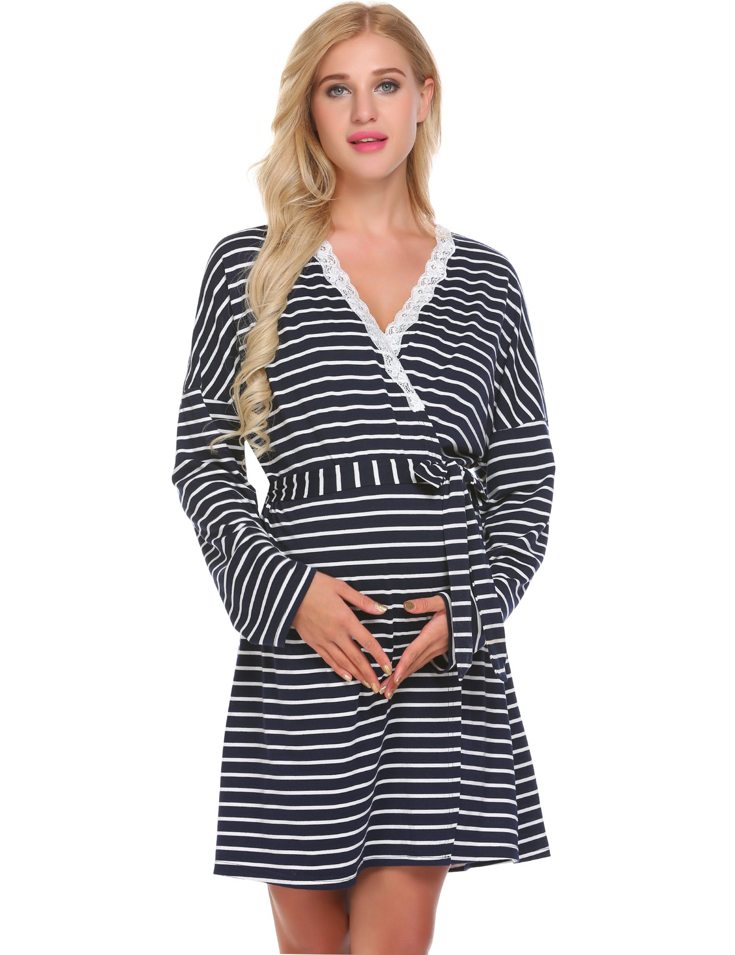 Ekouaer Maternity Labor Delivery Nursing Robe Hospital Bag Must Have ...