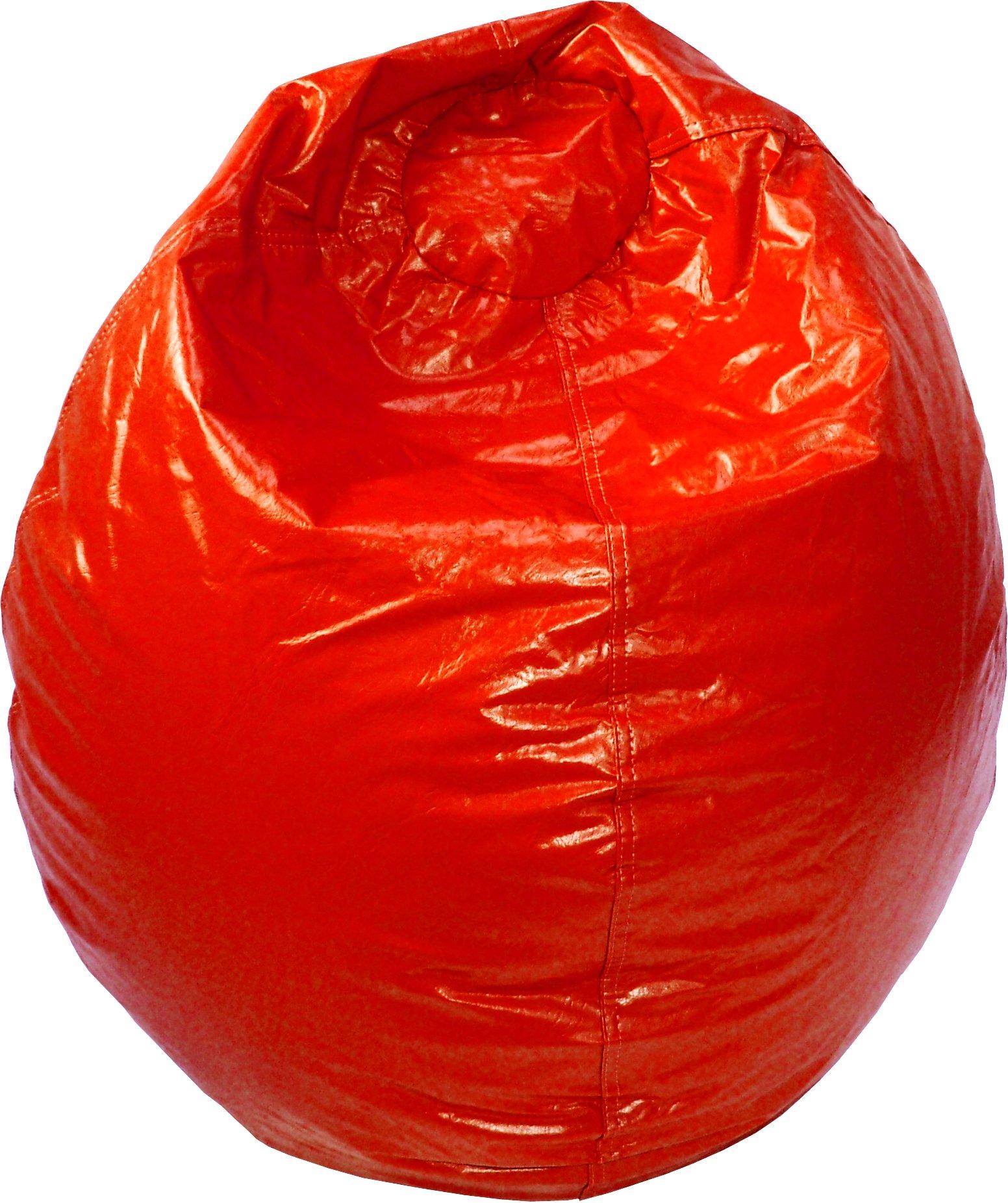 Gold Medal Bean Bags 30010509807 Medium Wet Look Vinyl Beanbag, Tween Size, Red