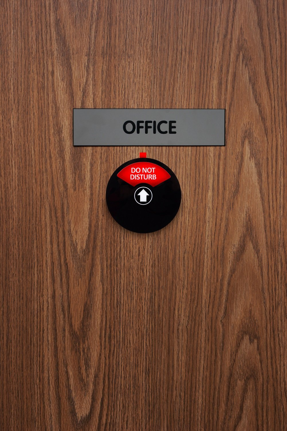 Kichwit Privacy Sign, Do Not Disturb Sign, Out of Office Sign, Welcome Please Knock Sign, Office Sign, Conference Sign for Offices, 5 Inch, Black by Kichwit (Image #7)