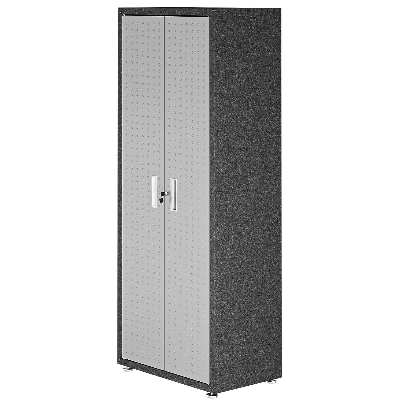 Manhattan Comfort 3GMCC Fortress Rolling 2 Door Garage Storage Cabinet Black//Gray