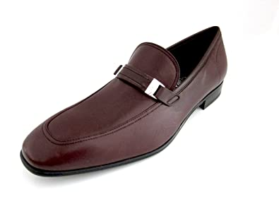 232073c79a3 Salvatore Ferragamo Lino Mens Burgundy Leather Loafers Shoes Made in Italy  (8.5 D(M