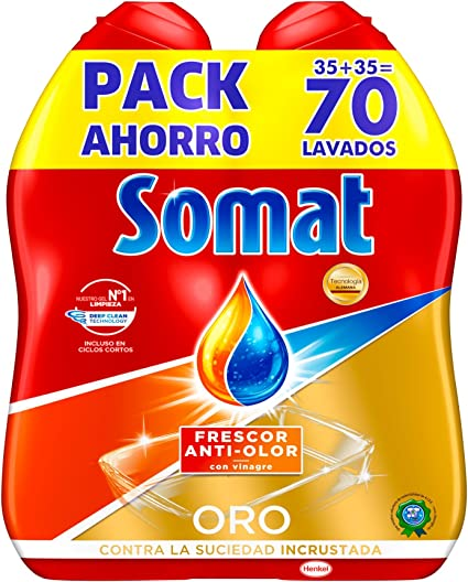 Somat Oro Gel Lavavajillas Vinagre - 70 Lavados: Amazon.es: Amazon ...