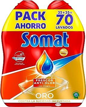 Somat Oro Gel Lavavajillas Vinagre 70 Lavados Amazon Es Amazon