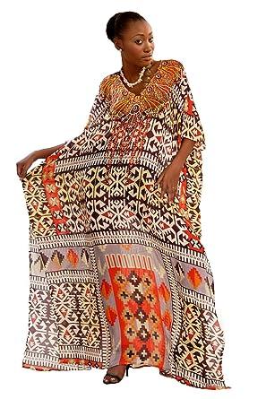 3fa30c511eb3 Silk kaftan Wrap Adorned with Our Epic Indian Traditional Geometric ...