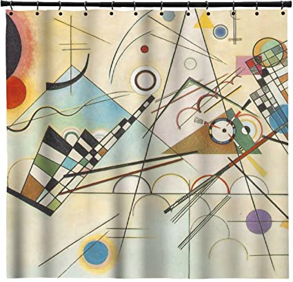 Amazon RNK Shops Kandinsky Composition 8 Shower Curtain