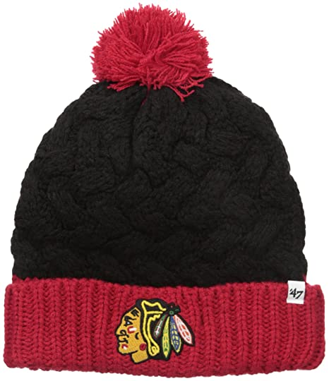 Amazon.com    47 NHL Chicago Blackhawks Women s Matterhorn Cuff Knit ... c2846ea8c6