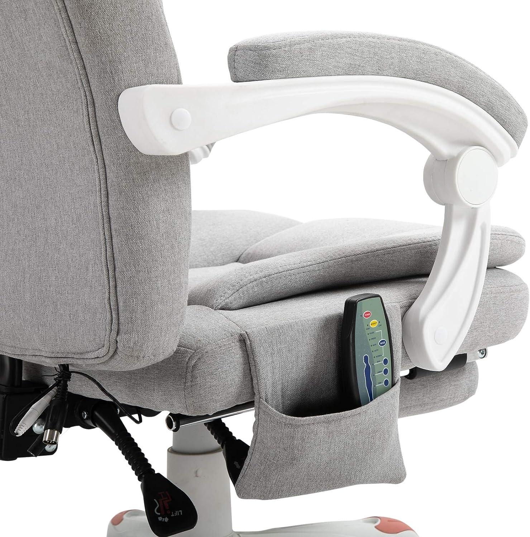 Vinsetto Massage Sessel Bürostuhl Gaming Stuhl Polyester Schaumstoff Nylon Grau