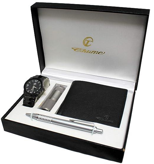 Caja de regalo para reloj de pulsera para hombre con linterna led, carteras y bolígrafo: Amazon.es: Relojes