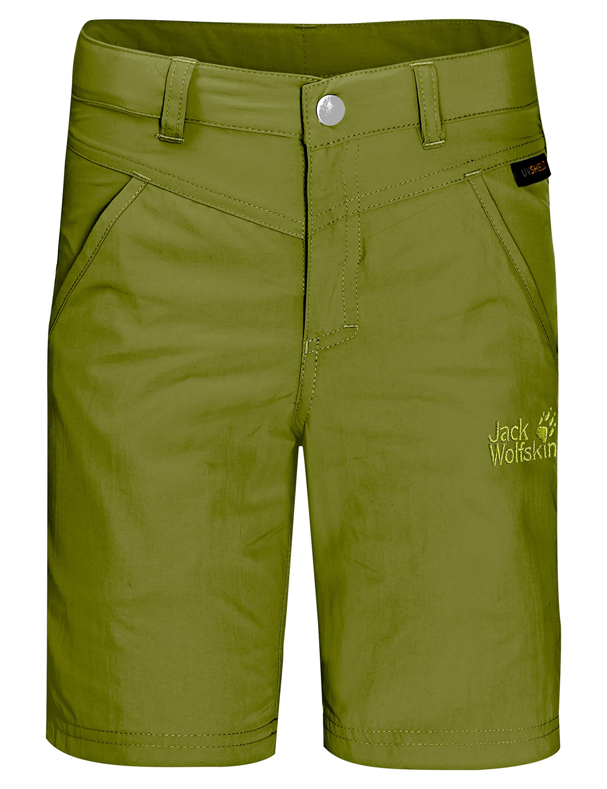 Jack Wolfskin Girls Sun Shorts Kid's Nylon Shorts, Green Tea, 140 (9-10 Years Old) by Jack Wolfskin