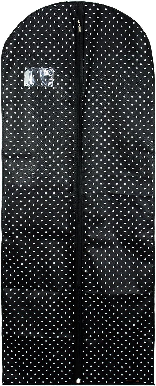 HANGERWORLD Atmungsaktive Kleiderschutzh/ülle 152cm Rosa-Wei/ß-Gepunktet Kleiderh/ülle