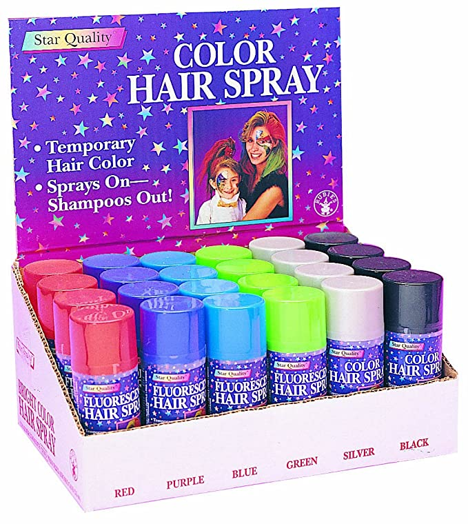 Coloring for Kids colored hairspray for kids : Amazon.com: Rubie's Bright Color Hairspray, Red: Toys & Games