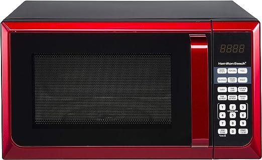 hamilton beach 0 9 cu ft microwave oven red