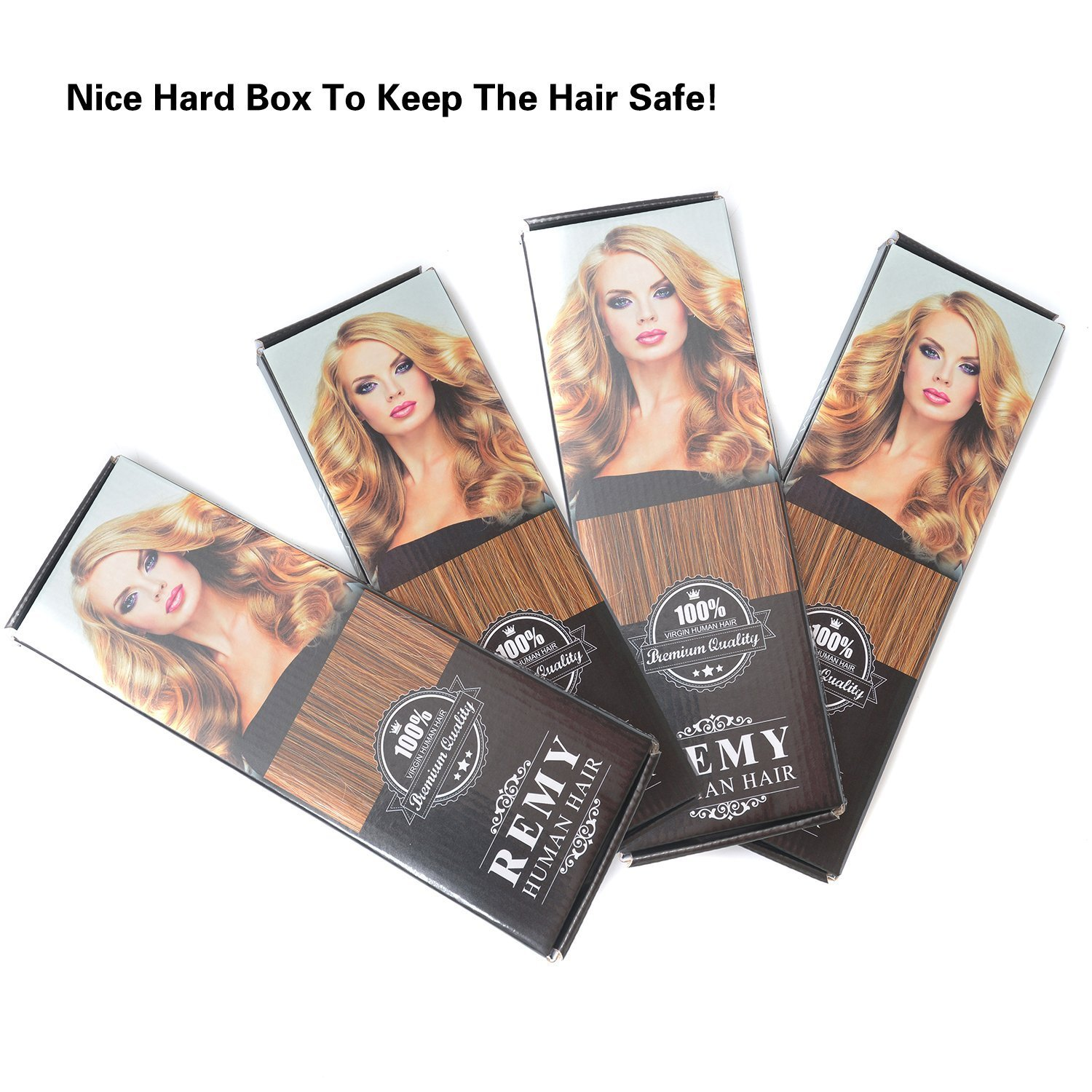 18 Clip In Remy Human Hair Extensions Off Black1b 6pieces 70grams