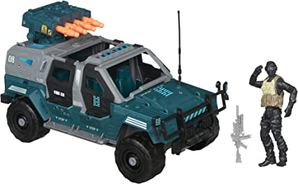 GI Joe Retaliation Ninja Combat Cruiser Vehicle with Night Fox Figure