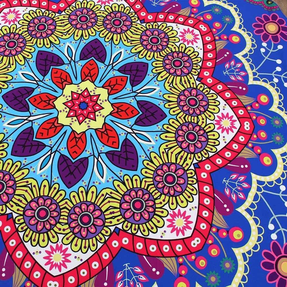 Aiserkly Lotus Hippie Round Tapestry Flowers Beach Throw Pretty Cushion Towel Yoga Mat Bohemian New 2019
