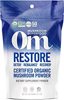 product image for Om Organic Mushroom Superfood Powder, Restore: Detox Recovery (50 Servings), Cordyceps & Reishi, Immune Support Supplement, 3.5 Ounce (Pack of 1)