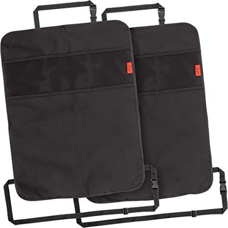 Car Kick Mats Back Seat Protector 2 Pk Auto Seat Cover for The Back of Your Front Seat to Organize and Protect Your Seats from Mud /& Stains