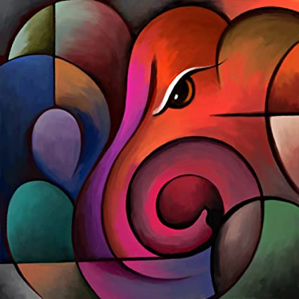 Amazon Com Art Factory Lord Ganesha Painting 24 W X24 H