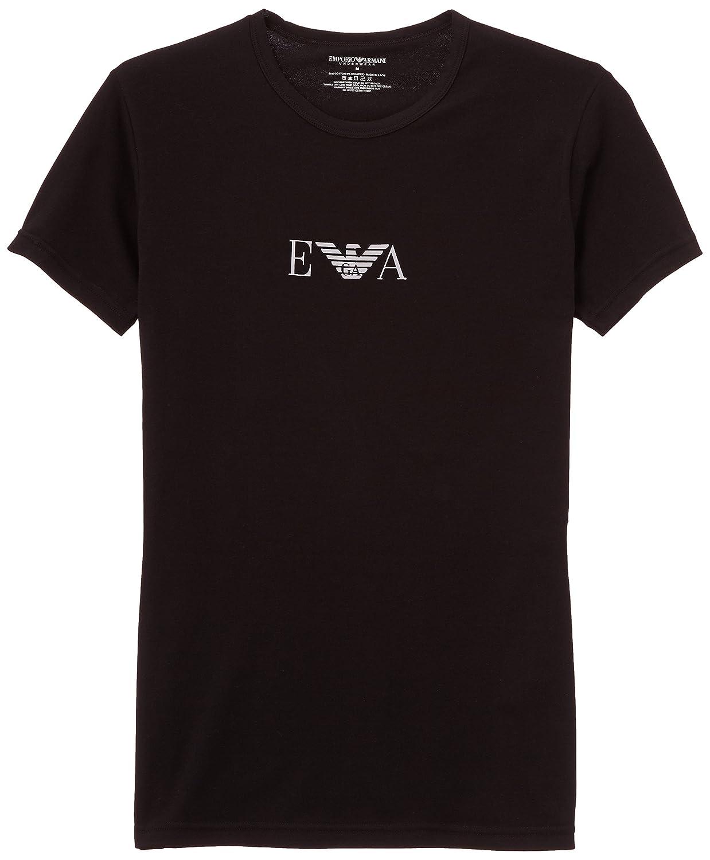 Emporio Armani Stretch BI-Pack Crew Neck T-shirt, Black/White 111267