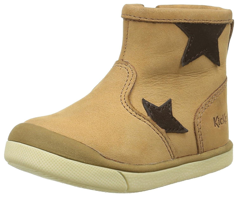Kickers Grany, Chaussures Premiers Pas bébé Fille (Marron Foncé) 21 EU 518210-10-92