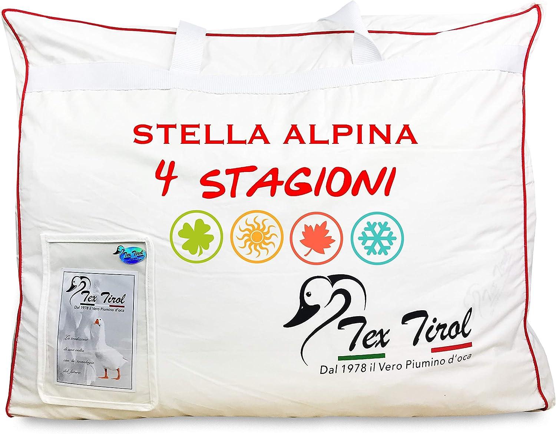 Matrimoniale 2 PIAZZE CM 250X200 Piumino Oca Tex Tirol /© Stella Alpina 4 Stagioni 100/% Piumino Oca Tutte Le Misure